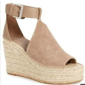 Marc Fisher Annie Perforated Espadrille Platform